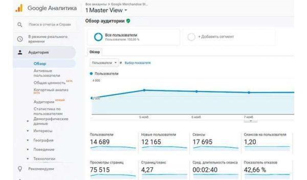 Обзор аудитории в Google Analytics